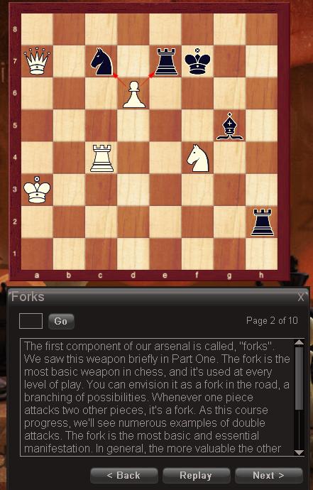 Chessmaster explains about forks