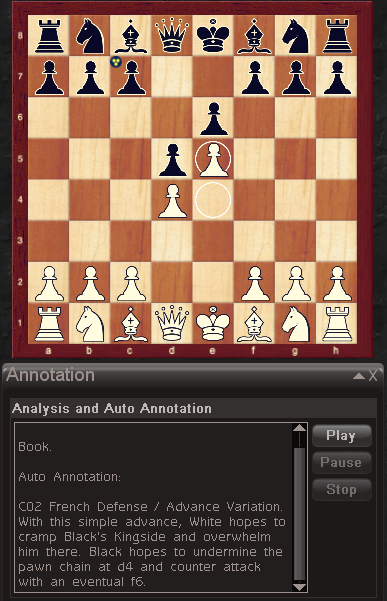 Chessmaster analyses a game