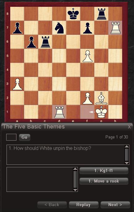 One of Chessmaster\'s interactive tutorials